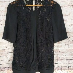 BCBG Generation, Black Blouse Sz med